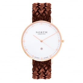 North Twenty Two DR108 Stockholm Rose Gold & Brown Leather Ladies Watch
