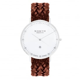 North Twenty Two DS108 Stockholm Silver & Brown Leather Ladies Watch