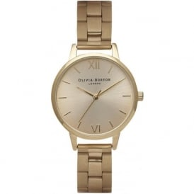 Olivia Burton OB13BL04B Midi Dial Gold Bracelet Ladies Watch