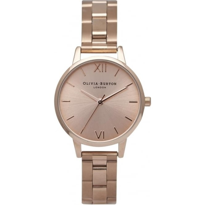 Olivia Burton OB13BL05B Midi Dial Rose Gold Bracelet Ladies Watch