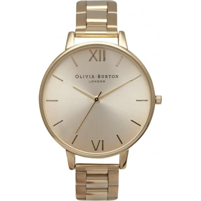 Olivia Burton OB13BL08BS Big Dial Gold Bracelet Ladies Watch