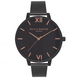 OB15BD83 After Dark Black Mesh Ladies Watch