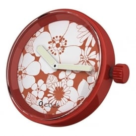 OClock Watches Flower Power Red Daisy Dial OCF36