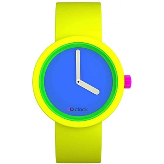 OClock Watches 80 Fluorescent Yellow Watch OCFL02-M