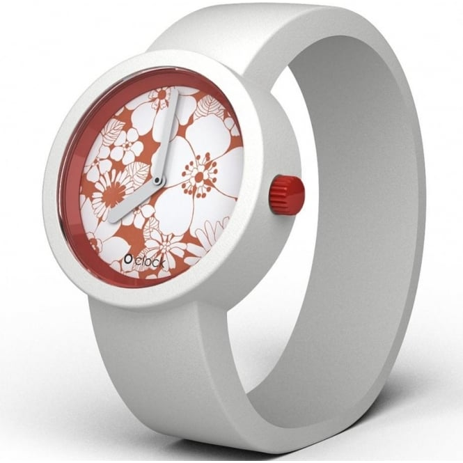 OClock Watches Flower Power Red Daisy Watch OCFP01