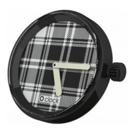 OClock Watches Tartan Black Dial