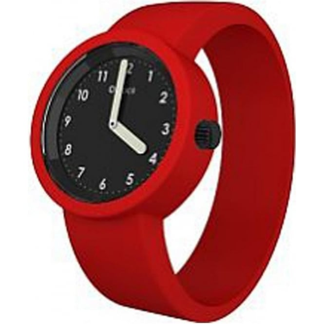 OClock Watches Numbers Black Red Watch OCNB17