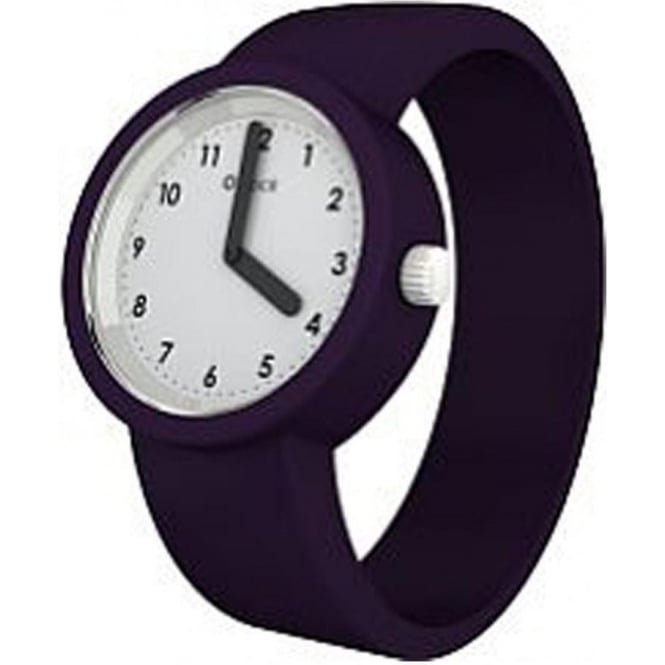 OClock Watches Numbers White Traffic Purple Watch OCNW18