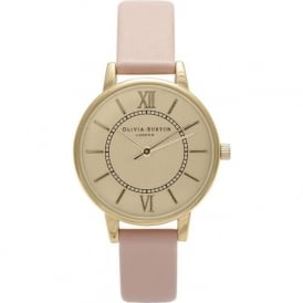 OB13WD01 Olivia Burton Wonderland Dusty Pink & Gold Ladies Watch