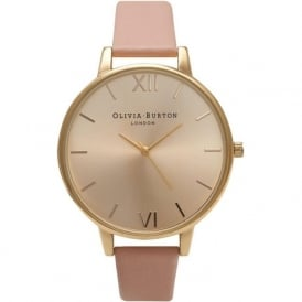OB14BD31 Olivia Burton Big Dial Dusty Pink & Gold Ladies Watch