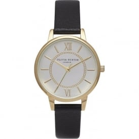 Olivia Burton OB14WD04 Wonderland Black & Gold Ladies Watch