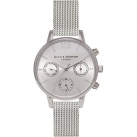 Olivia Burton OB15CGM61 Midi Chrono Detail Silver Mesh Ladies Watch