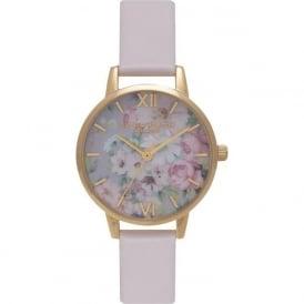 Olivia Burton OB15FS50 Flower Show Blush & Gold Leather Ladies Watch