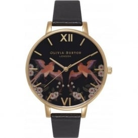 Olivia Burton OB15MG05 Oriental Opulence Friendship Birds Black & Gold Ladies Watch