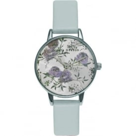 Olivia Burton OB15PL22 Parlour Grey & Silver Leather Ladies Watch
