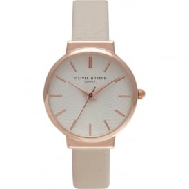 Olivia Burton OB15TH02 The Hackney Rose Gold & Mink Leather Ladies Watch