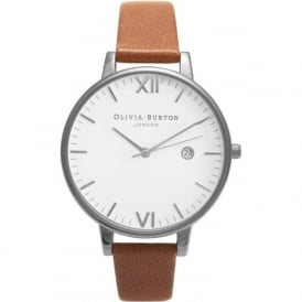 Olivia Burton OB15TL04 Timeless Silver & Tan Leather Ladies Watch