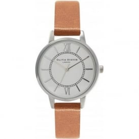 Olivia Burton OB15WD41 Wonderland Tan & Silver Ladies Watch