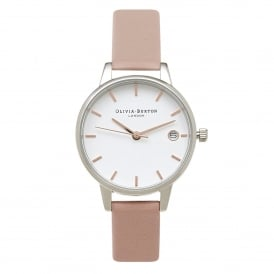 Olivia Burton OB15TD15 The Dandy Dusty Pink, Silver & Rose Gold Mix Leather Ladies Watch