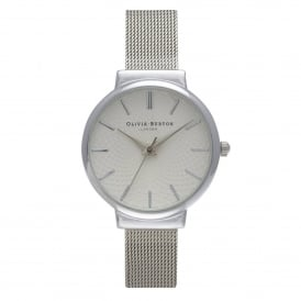 OB15TH06B The Hackney Silver Mesh Ladies Watch