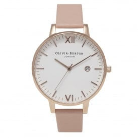 Olivia Burton OB15TL02 Timeless Dusty Pink & Rose Gold Leather Ladies Watch