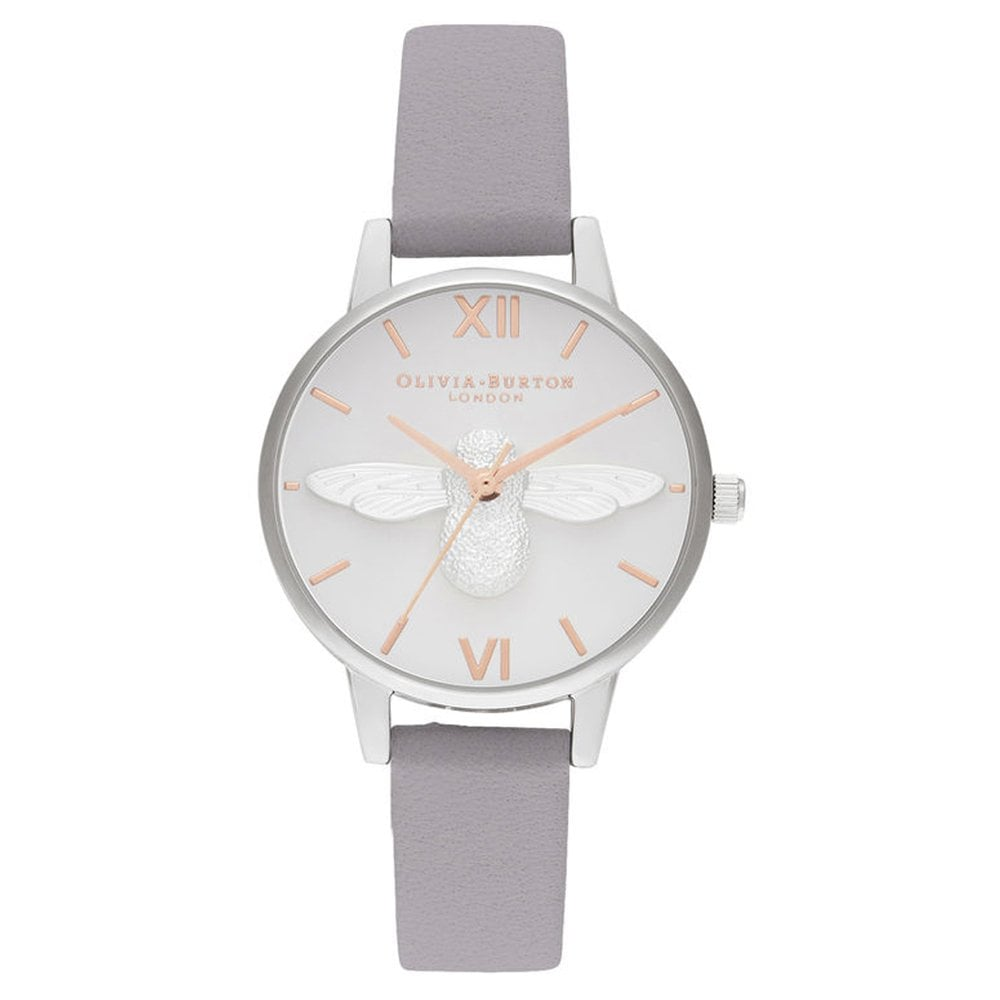 fa2d9cdce376 OB16AM163 3D Bee Midi Dial Grey Lilac Rose Gold & Silver Watch