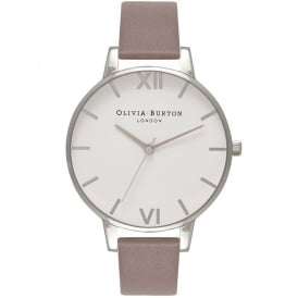 OB16BDW28 Big Dial London Grey & Silver Leather Ladies Watch