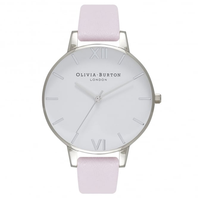 Olivia Burton OB16BDW34 White Dial Blossom & Silver Leather Ladies Watch