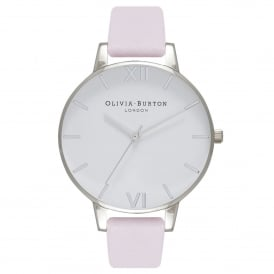 OB16BDW34 White Dial Blossom & Silver Leather Ladies Watch
