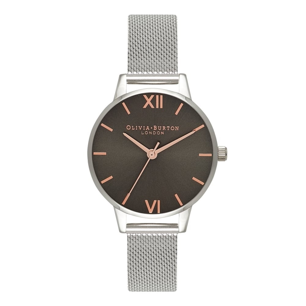 7be66bcd9941 Olivia Burton OB16MD80 Midi Grey Dial Mesh Ladies Watch available at ...