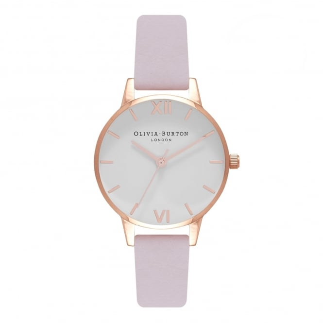 Olivia Burton OB16MDW36 White Dial Blossom & Rose Gold Leather Ladies Watch