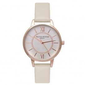 OB16WD65 Wonderland Nude & Rose Gold Leather Ladies Watch