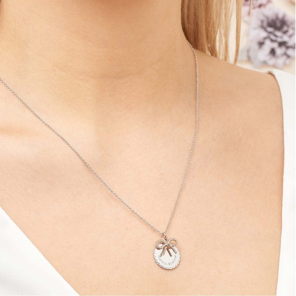 bd8ab6feed18 Olivia Burton OBJ16VBN05 Vintage Bow Coin Necklace available at Tic ...