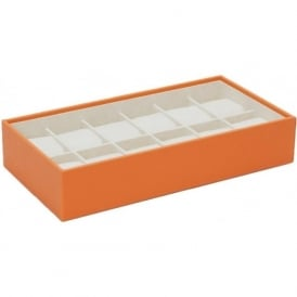 Orange 12 Piece Watch Tray