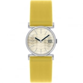 Orla Kiely OK2021 Cecelia Yellow Leather Ladies Watch