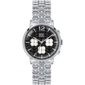 Orla Kiely OK4001 Frankie Silver Stainless Steel Chronograph Ladies Watch