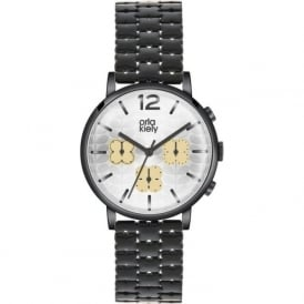 Orla Kiely OK4002 Frankie Silver & Black Plated Chronograph Ladies Watch