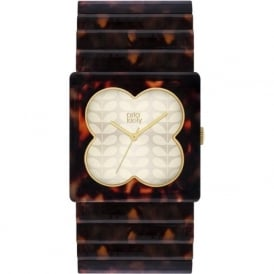 Orla Kiely OK4007 Lucy Brown Tortoiseshell Plastic Ladies Watch