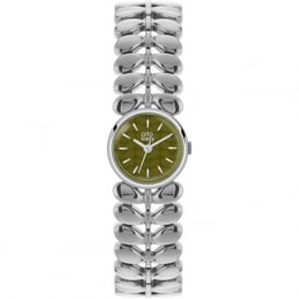 Orla Kiely OK4011 Laurel Green & Silver stainless Steel ladies Watch