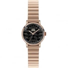 Orla Kiely OK4012 Frankie Black & Rose Gold Stainless steel Ladies Watch