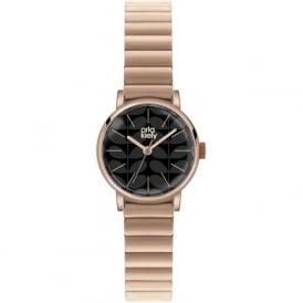 Orla Kiely OK4012 Frankie Black & Rose Gold Stainless steel Ladies Watch