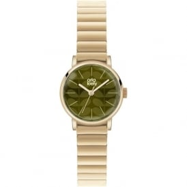 Orla Kiely OK4014 Frankie Green & Gold Stainless Steel Ladies Watch