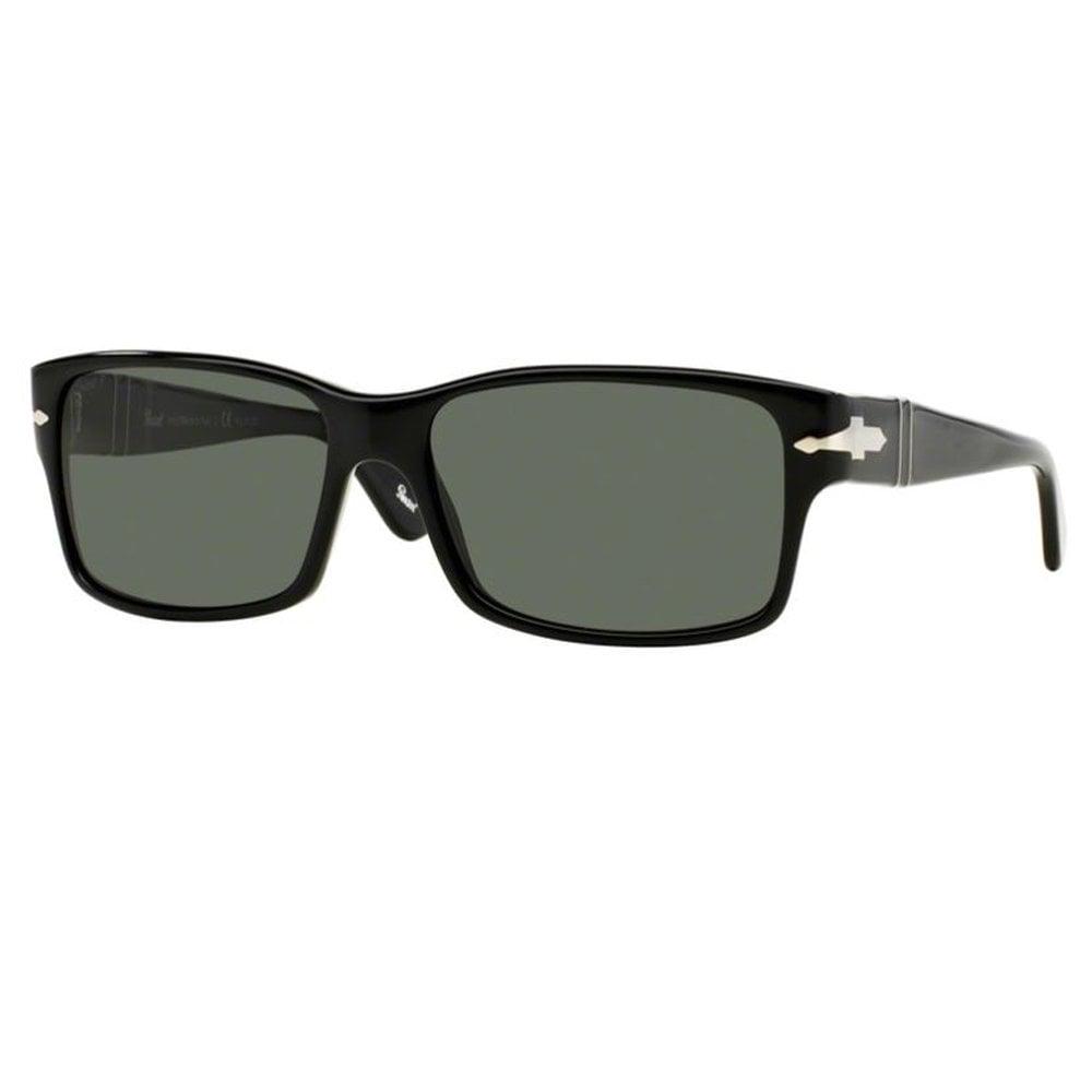 d54108f664 0PO2803S 95/58 58 Black and Green Polarized Men's Sunglasses