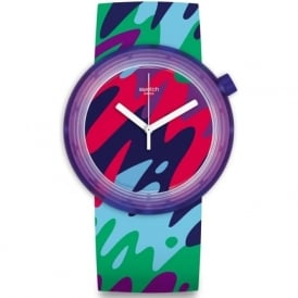 Swatch PNP101 Popthusiasm Multicoloured Camo Watch