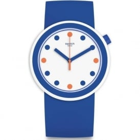 Swatch PNW103 Popiness Blue & White Watch