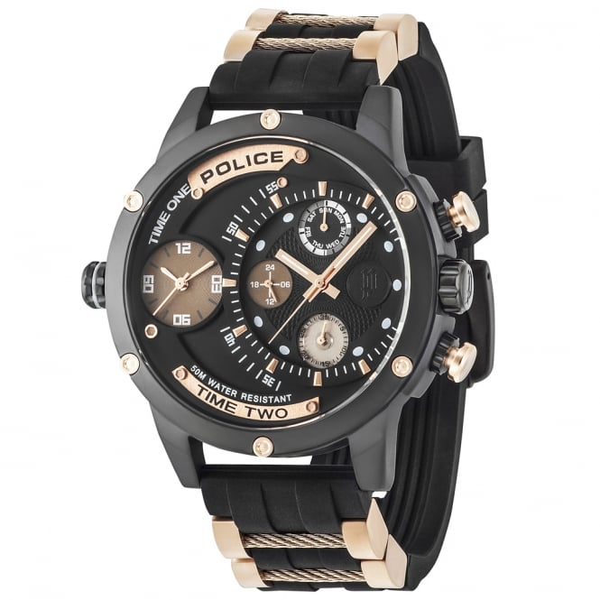 Police Watches Adder 14536JSB/02PA Men's Chronograph Black Rubber Watch