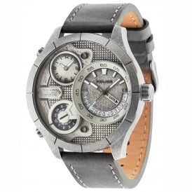 Bushmaster 14638XSQS/04 Men's Chronograph Grey Leather Watch
