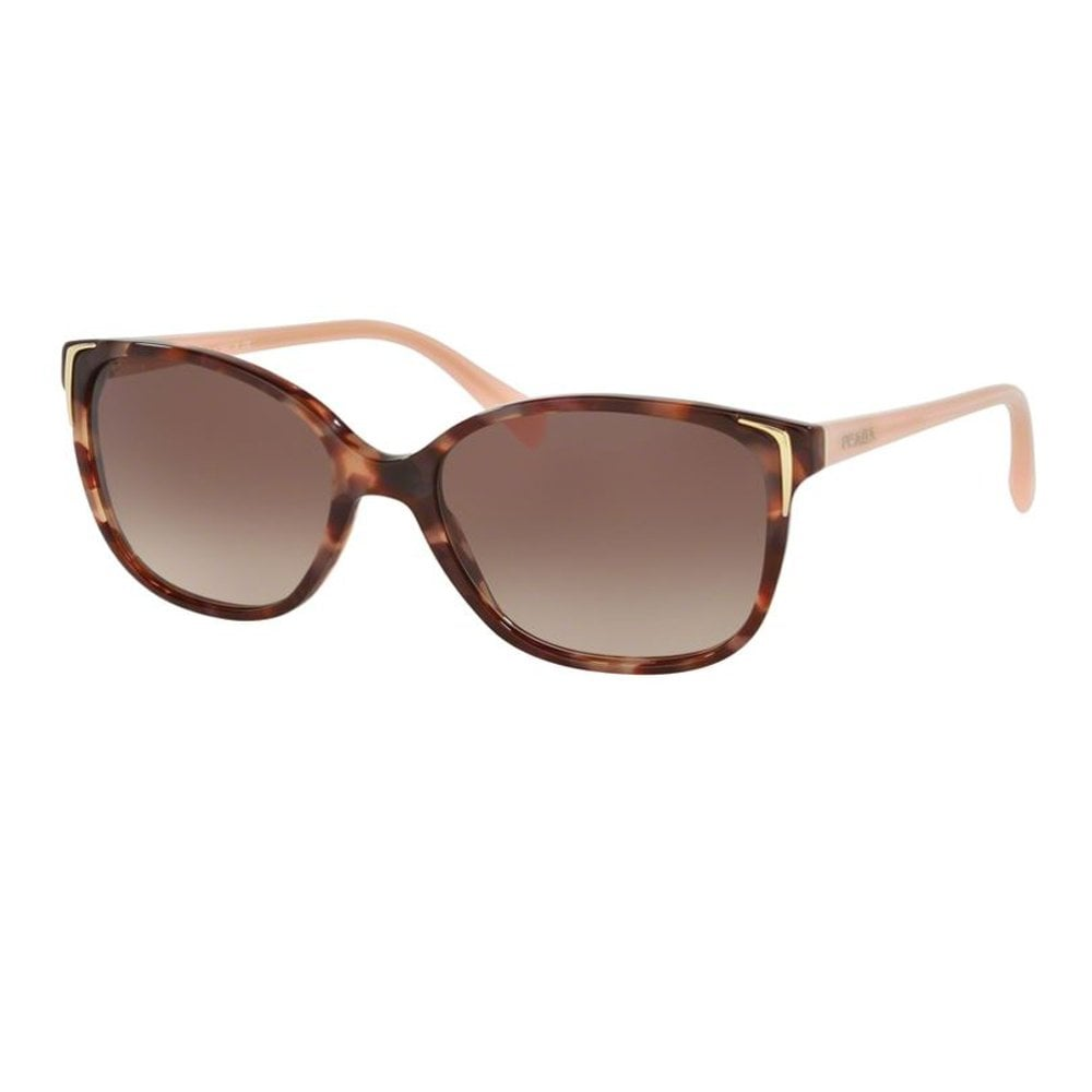 87225068a30f 0PR01OS UE00A6 55 Conceptual Spotted Brown and Pink Ladies Sunglasses