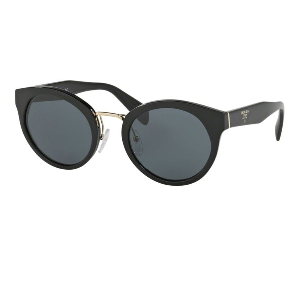 191297f9 Prada Sunglasses 0PR05TS 1AB1A1 53 Heritage Black and Gold Ladies Sunglasses