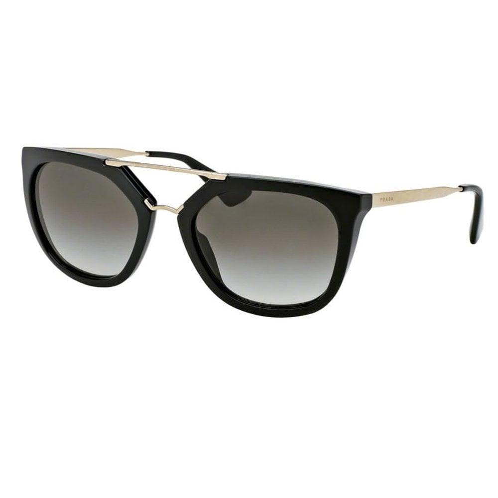 0f74f1b8 Prada Sunglasses 0PR13QS 1AB0A7 54 Catwalk Black and Gold Ladies Sunglasses